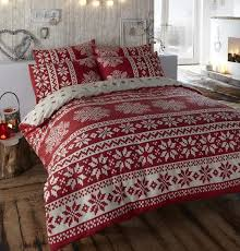 flannelette quilt cover red