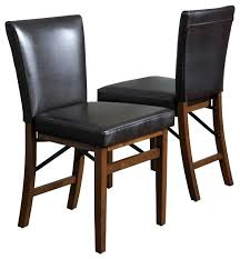 folding dining room chairs brown leather folding dining chairs set of 2 folding dining room chairs