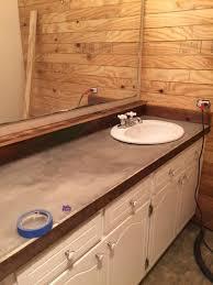 guest bathroom redo concrete bathroom countertops for countertops