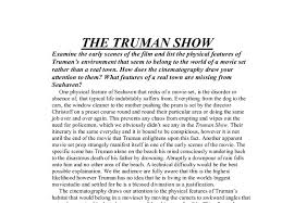 the truman show examine the early scenes of the film and list  document image preview