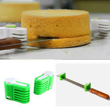 <b>2PCS</b> Cake <b>Bread Cutter</b> Leveler <b>5</b> Layer Slicer Cutting Fixator DIY ...