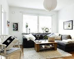 brilliant small living room furniture. Living Room Minimalist : Brilliant Small Design With White Leather Sofa For Futuristic Corner Black Ideas Couch Furniture Decor Modern Drawing