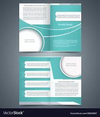 Foldable Brochure Template Free Green Bifold Brochure Template Design