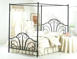 Wrought Iron Canopy Bed Queen Image Of Frame – Nice House Sample Home
