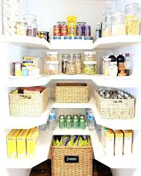 small u shaped pantry boasts top row lined with flip jars filled dried pastas shelves cloud u shaped shelves