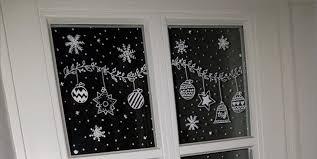 Weihnachtliche Fensterbilder Mit Kreidestift