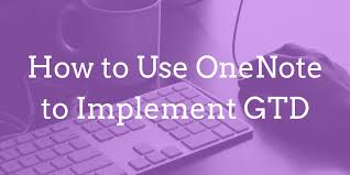 Onenote 2010 Project Management Templates How To Implement Gtd Using Onenote Joe Cotellese