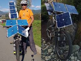 solarcross e bike with solar panels photo