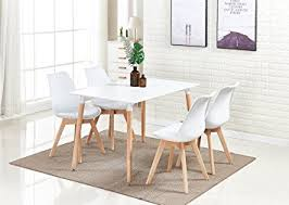 p n homewares lorenzo dining table and 4 chairs set retro and modern dining set white