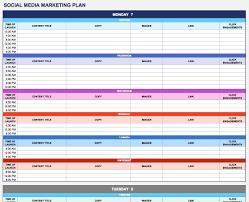 Marketing Schedule Template Excel Printable Schedule Template