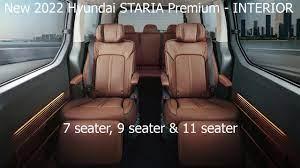 New Hyundai STARIA Premium 2022 - INTERIOR   7 seater, 9 seater & 11 seater    Highlights & Details - YouTube