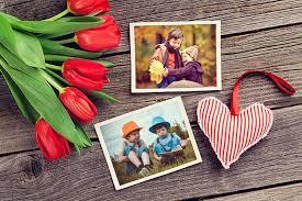 romantic love double photo frames