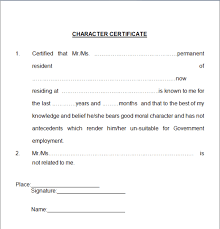 6 Character Certificate Templates - Certificate Templates