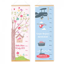 Kids Height Chart Canvas Height Charts