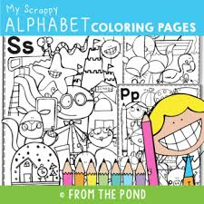 Are you trying too hard to get your kid to learn the letters? Alphabet Coloring Pages Worksheets Teaching Resources Tpt