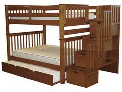 Bunk Bed Full over Stairway Expresso with Trundle for only $1145 Beds | Free Shipping King