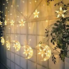 Fairy Lights Moon Led Star Curtain Lights Moon Star String Light 138 Leds
