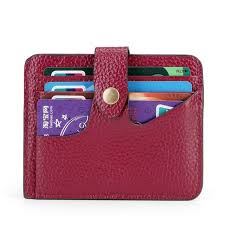 yafeige women s rfid blocking small compact leather credit card holder pocket