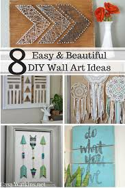 of some must do diy wall art before the summer ends these pieces are great for any home and can be entirely customized to fit your own color scheme