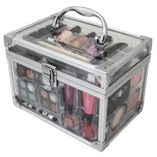 43 PIECE VANITY CASE BEAUTY COSMETIC SET GIFT MAKEUP MAKE UP STORAGE BOX  XMAS