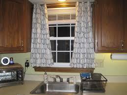 Of Kitchen Curtains Bay Window Kitchen Curtains Ideas