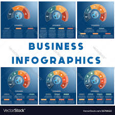 Templates Infographics Business Concept Coloured