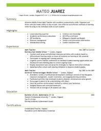 Teacher Resume Examples Substitute Teacher Resume Summary