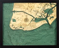 Nautical Wood Charts Cape May New Jersey 3 D Nautical Wood Chart 16 X 20