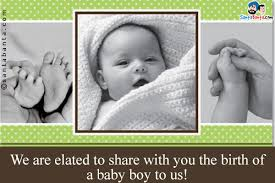 Baby Birth Announcement Sms