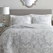 laura ashley venetia 2 piece grey twin quilt set