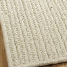 ecofriendly solid braided wool rugs  shades of light