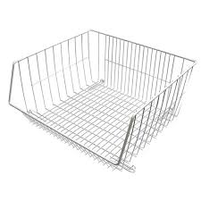 closetmaid 16 375 in x 8 25 in stack or hang wire storage basket 1088 the home depot