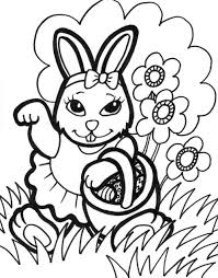 Easter Bunny Printable Colouring Pages L