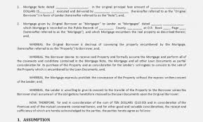 Mortgage Assumption Agreement Example Inspirational Sample U2013
