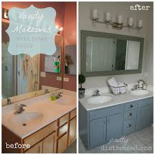bathroom vanity makeover with latex paint