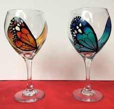 winged wine glass painting party