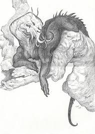 monster creature drawings. Modren Monster Original Graphite Drawing  With Monster Creature Drawings A