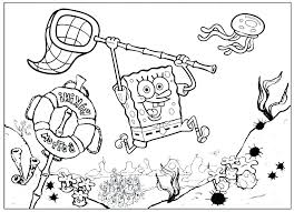 Coloring Book Pages Spongebob Printable Online Collection Of