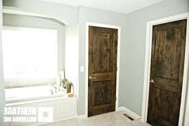 white interior doors with stained wood trim. Wonderful Doors White Trim And Stained Doors Interior With Wood  Fresh Knotty Alder Dark Modern In T