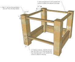 diy farmhouse side table tutorial and free plans with optional drawer and zinc table top