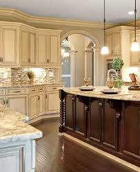 french country kitchen furniture. crown molding antique whitewashed cabinets with mahogany hardwood offers luxury to this kitchen french country furniture