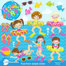 summer splash clipart. Wonderful Clipart Pool Party Summer Splash Pack For Clipart M