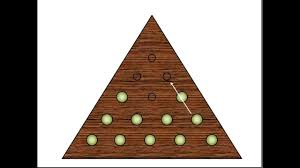 Wooden Triangle Peg Game How to Solve the Triangle Golf Tee Puzzle The Kind in Cracker 99