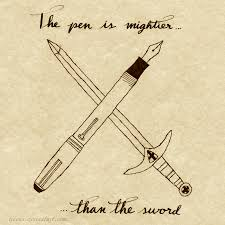 the pen is mightier than the sword by ticoun on the pen is mightier than the sword by ticoun