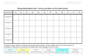 Training Programme Schedule Format Workout Training Schedule Template