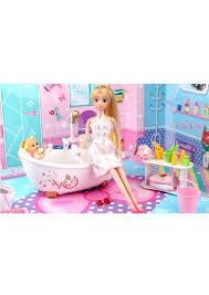 24pcs barbie doll bathroom set