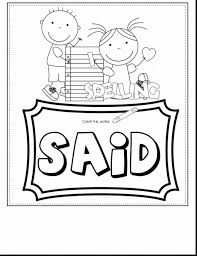 Coloring Pages Printable Winter Sight Word Coloring Pagessight