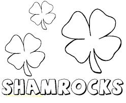 Shamrock Coloring Page Free Shamrock Coloring Pages Angryjoe Co