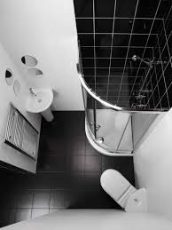 Modern Tiny Bathrooms With Corner Shower Stall And Heated Towel ...