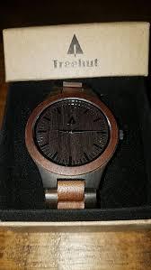 men s ebony treehut wooden watch